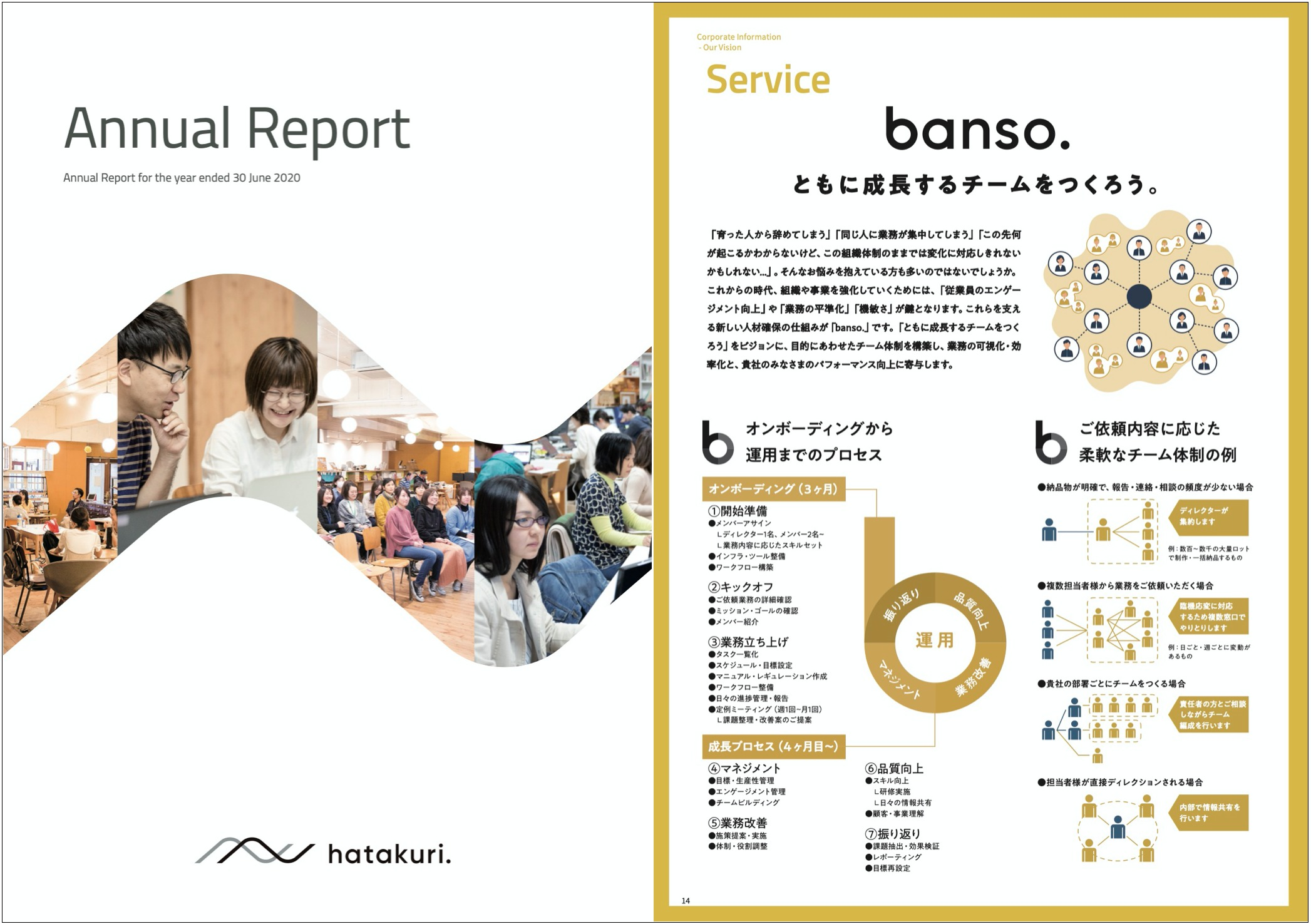 《アニュアルレポート2020》株式会社はたらクリエイト