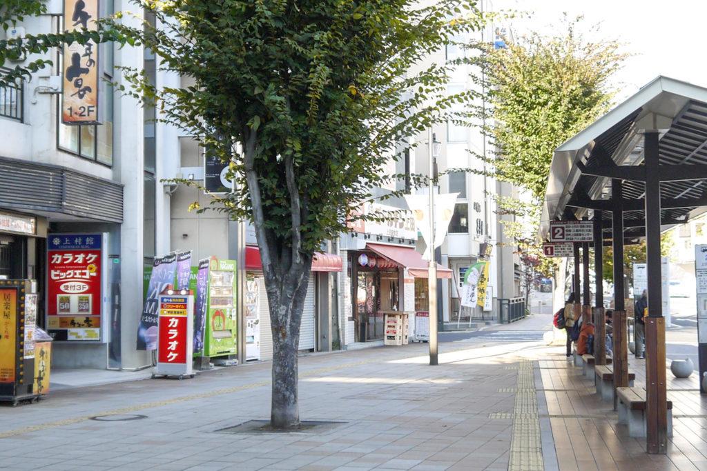上田駅前風景
