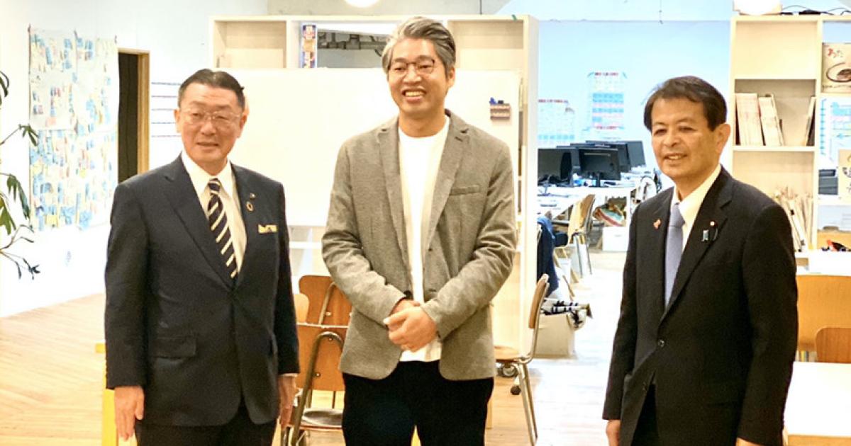 宮下一郎内閣府副大臣が、上田オフィスに来社されました。